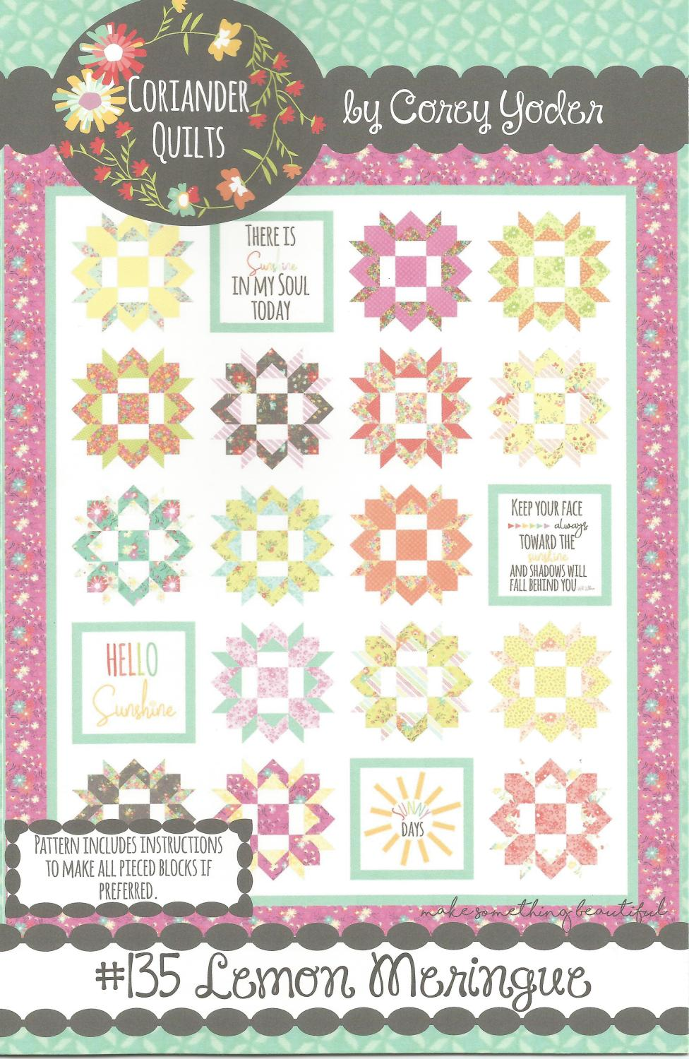 "Lemon Meringue Quilt Kit, 65.5"" x 79"", Backing not included."