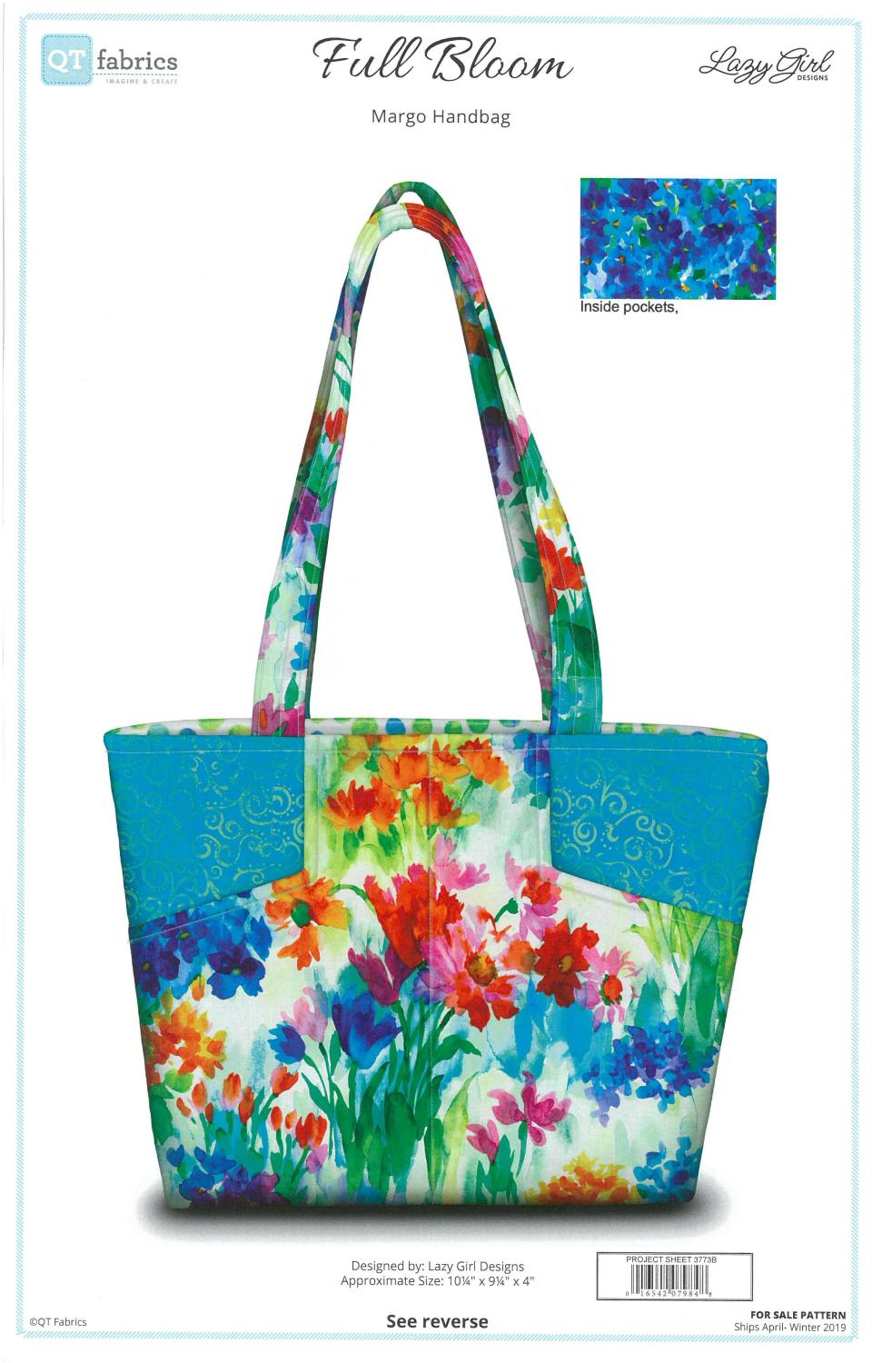 Full Bloom Handbag Fabric Kit