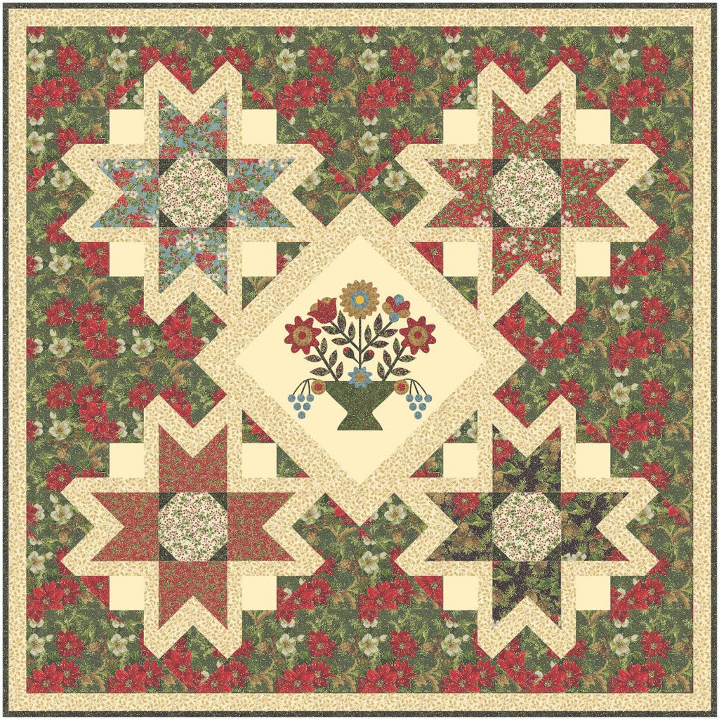 "Starry Eve Quilt Kit, 59.5"" x 59.5"", Backing not included."