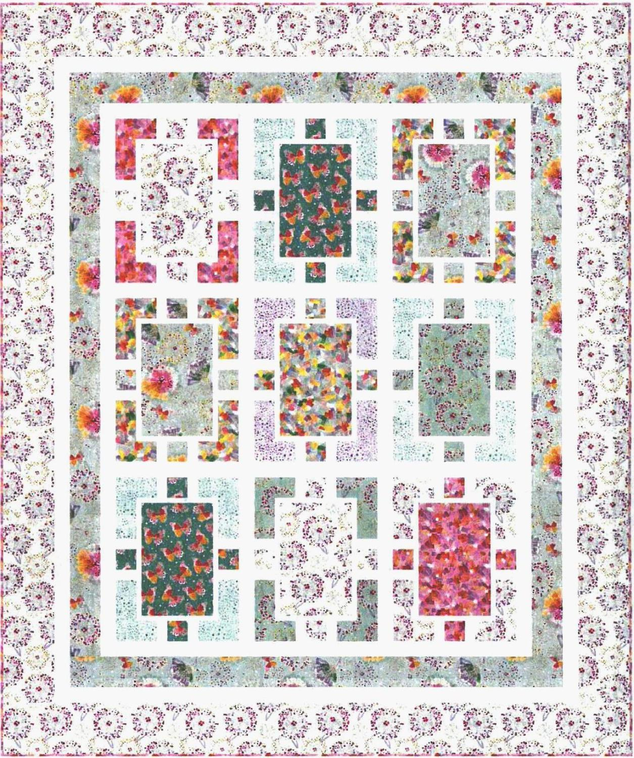 Confetti Blossoms Quilt Kit, Throw, Backing not included.