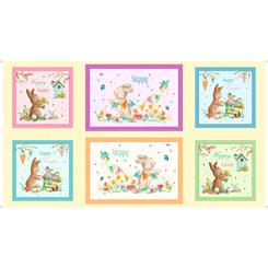 Easter Parade Bunny Patches Panel