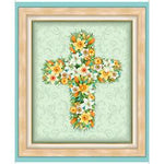 Easter Parade Floral Cross Panel