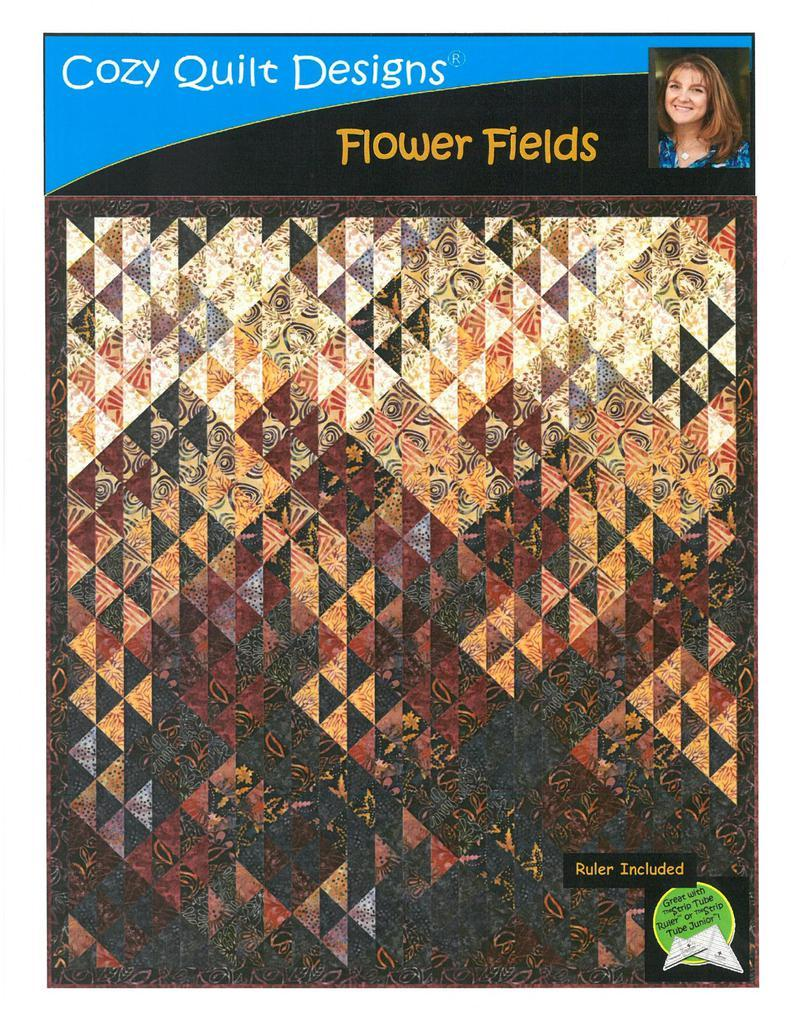 Flower Fields Quilt Kit, Batik Fabric