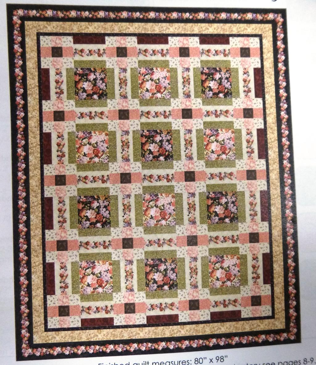 Garden Trails Quilt Kit, Full,  Backing not included.