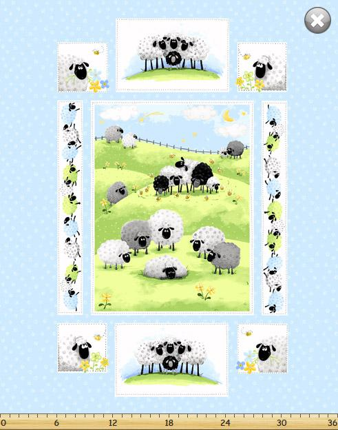 Lewe Quilt - Sheep Panel