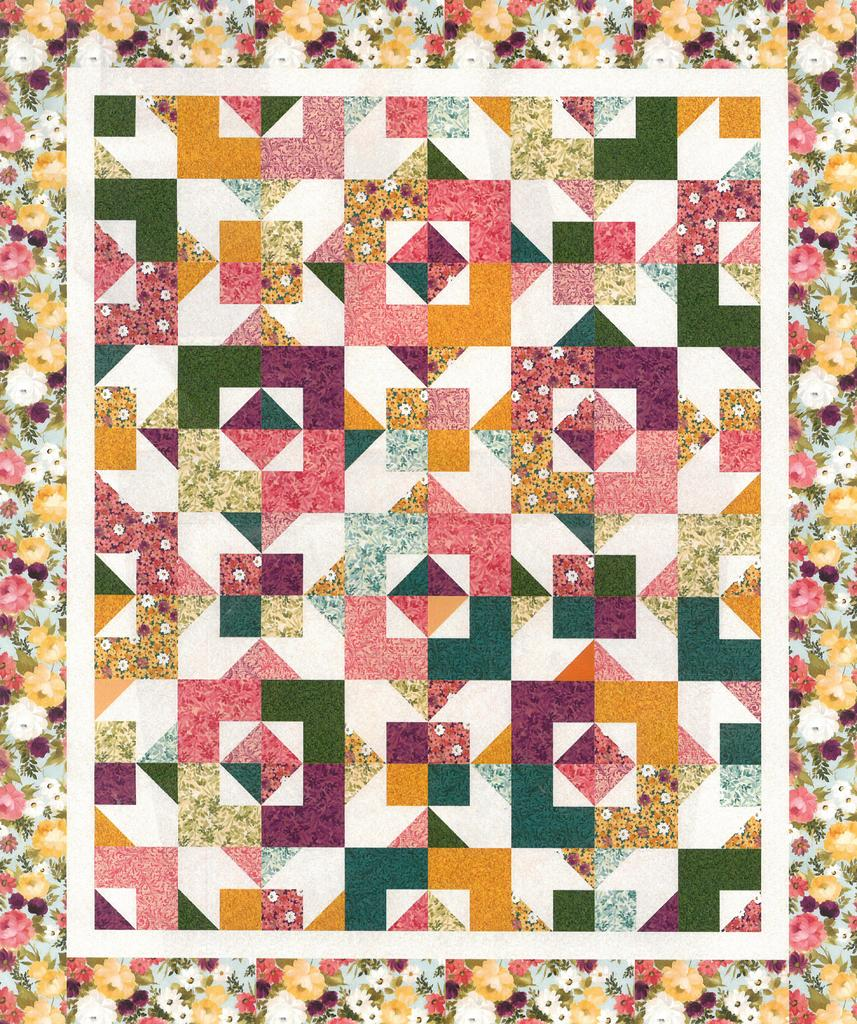 Lilian Quilt Kit, Throw, Backing not included.