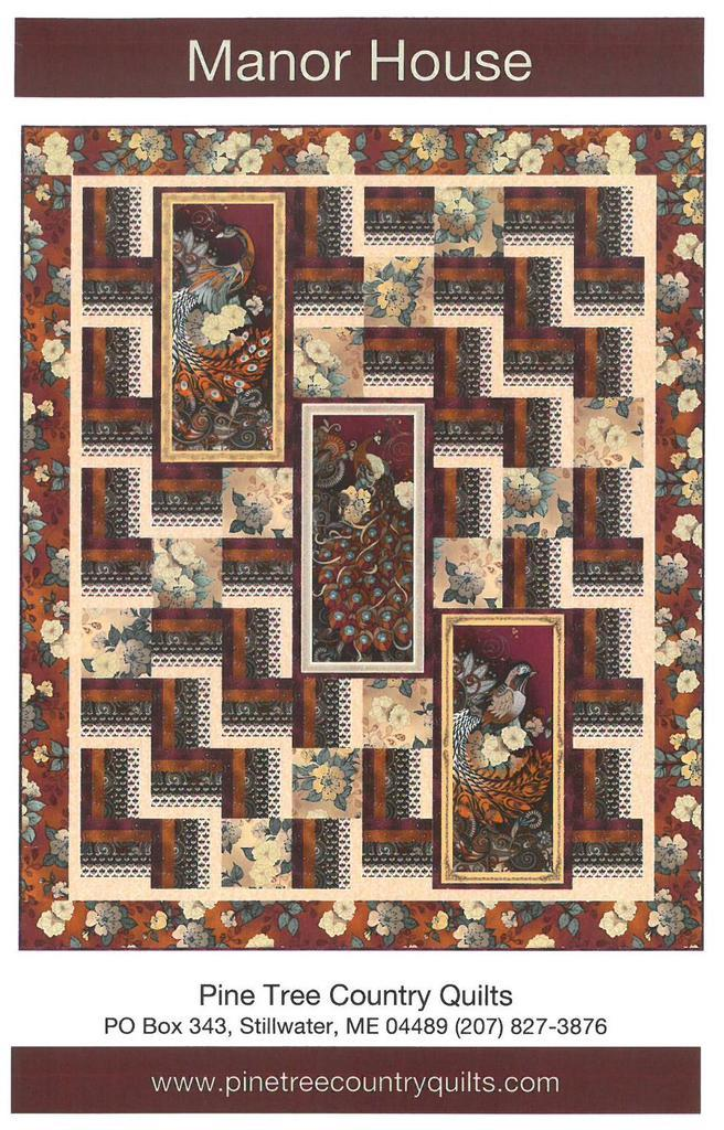 Manor House Quilt Kit, Wall Hanging, Backing not included.