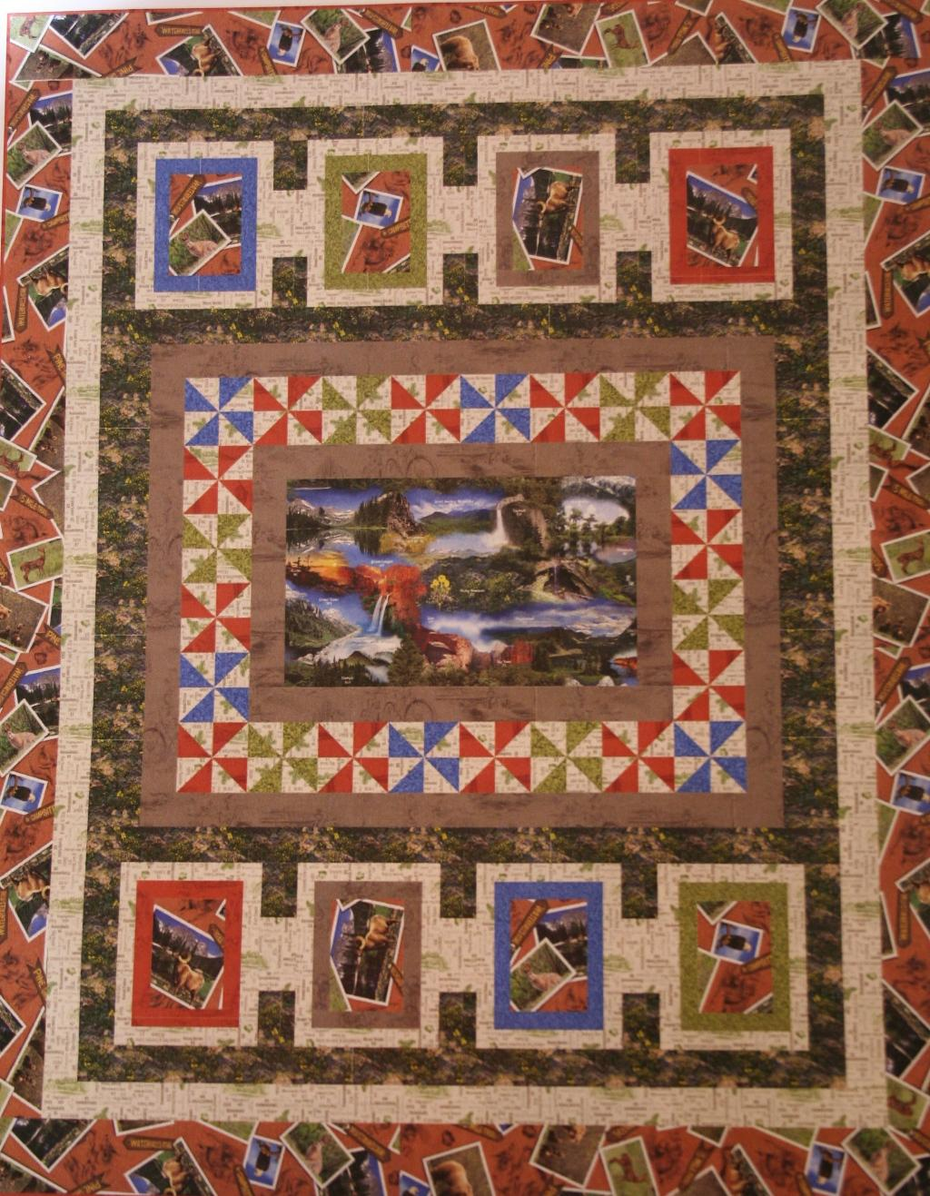 "Our National Parks Quilt Kit, 54.5"" x 68.5"", Backing not included."