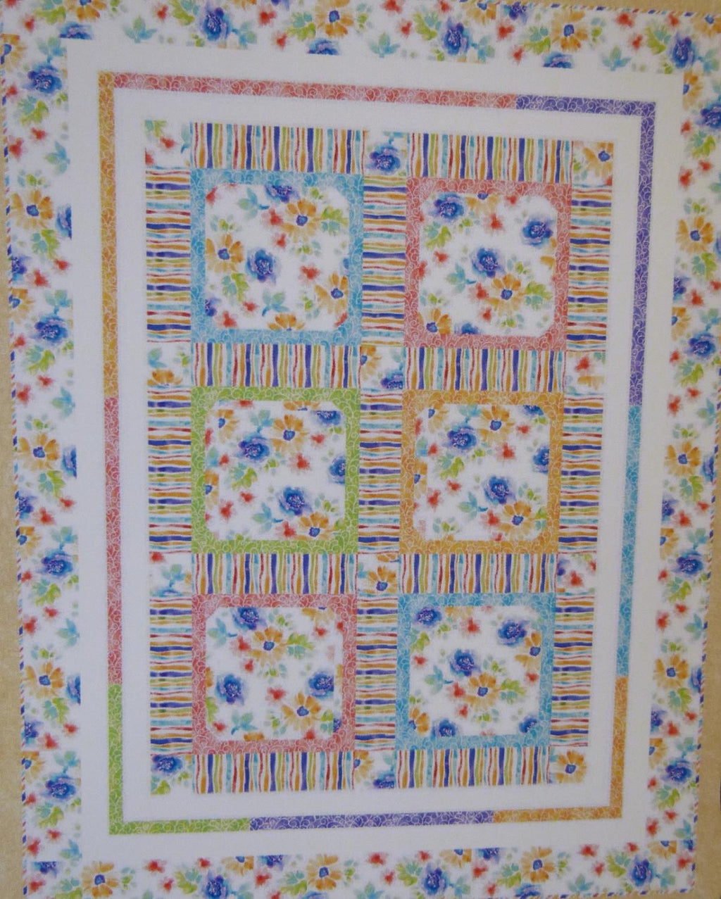 "Petal Poetry Quilt Kit, 51"" x 66"", Backing not included."