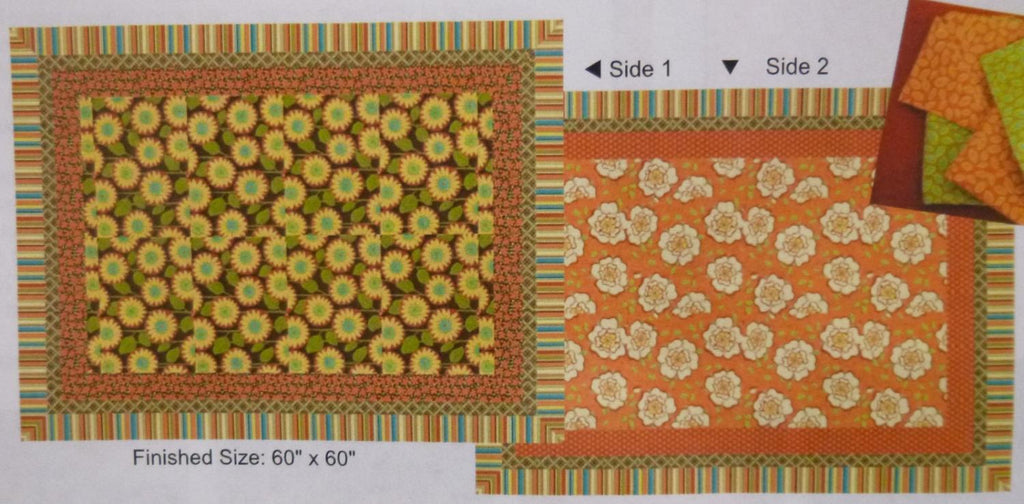 Petalicious Reversible Tablecloth & Napkin Kit