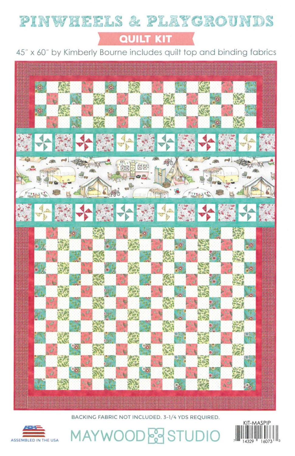 "Pinwheels & Playgrounds Quilt Kit, 45"" x 60"", Backing not included."