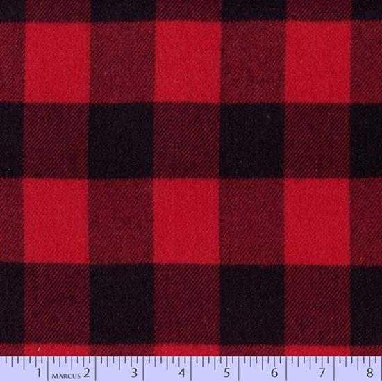 Primo Plaid Flannel - Black and Red