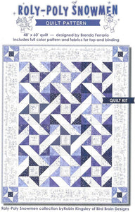 Roly-Poly Snowmen Quilt Kit, Wall Hanging, Backing not included.