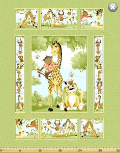 Susybee Buddies (Giraffe & Monkey) Panel