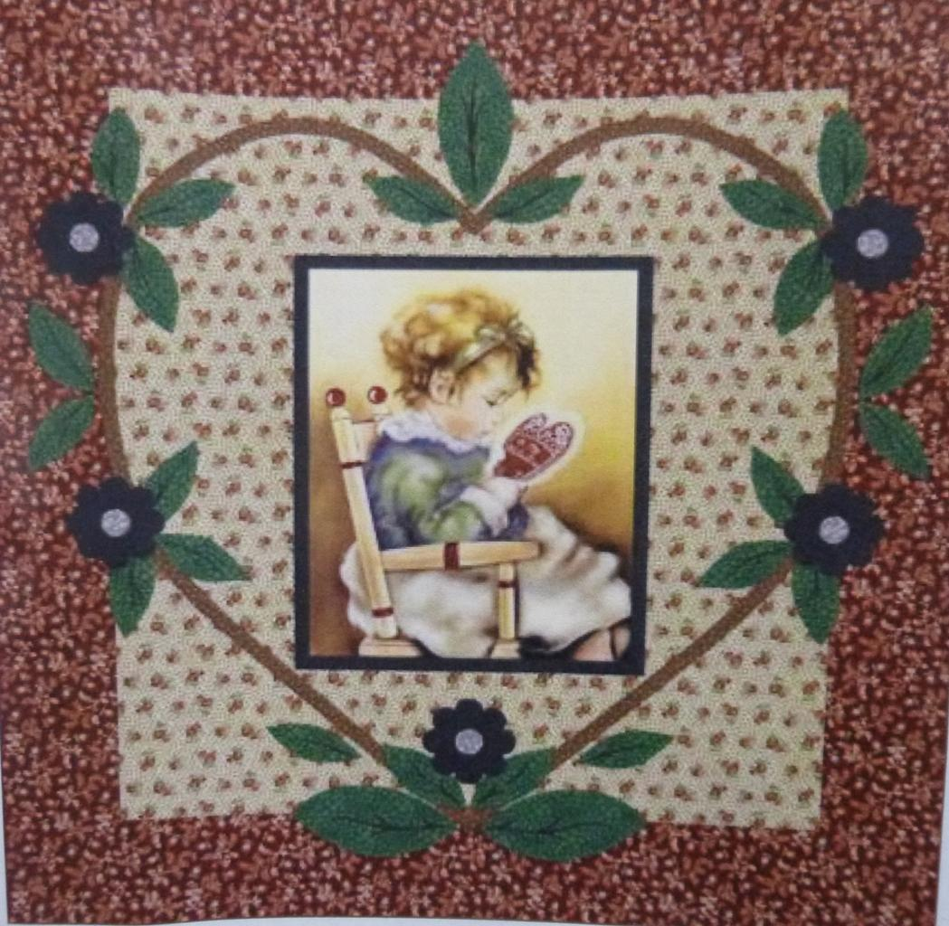 "Valentine Girl Quilt Kit, 56"" x 58"", Backing not included."