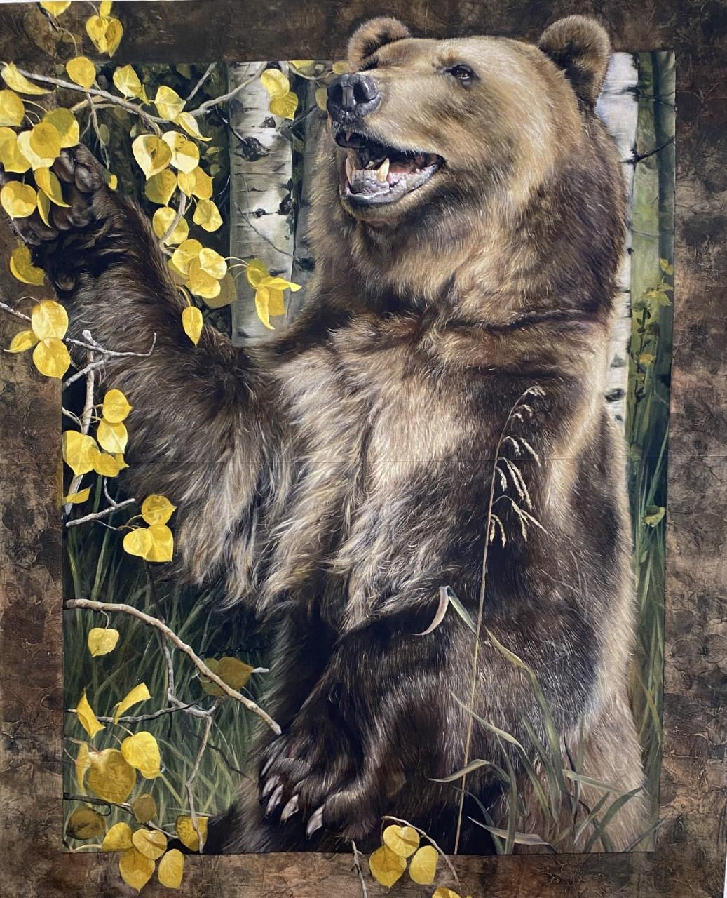 Wild & Playful Bear Panel