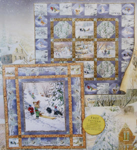 Winter's Gleam Quilt Kit, Large & Small Wall Hanging,  Backing not included.
