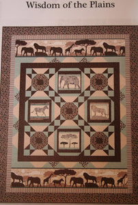 "Wisdom of the Plains Quilt Kit, 47"" x 60"", Backing Included."
