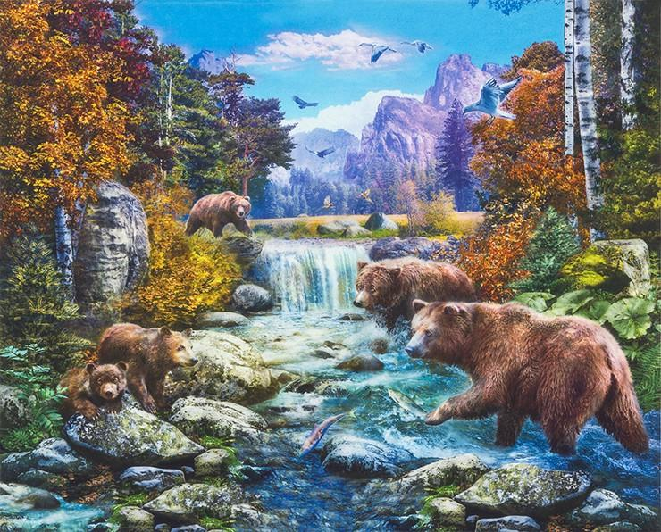 Piture This - Bears by River Panel