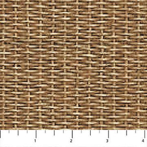 Rod and Reel, Light Brown Basket Weave