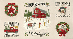 Homegrown Holidays Winter White Panel