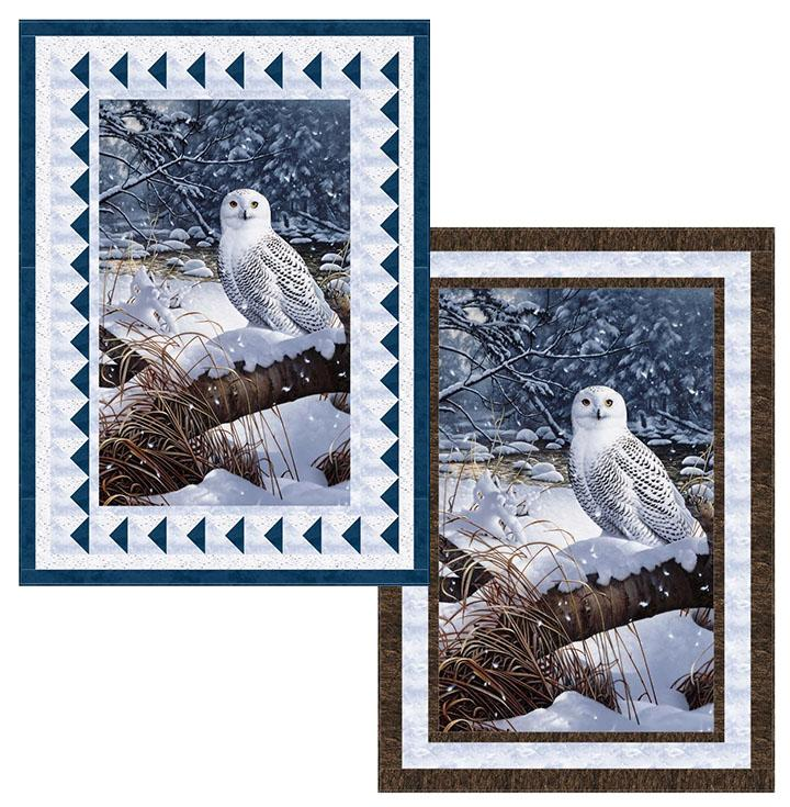 "Winter Solitude Quilt Kit, 42"" x 58"", Backing not included"
