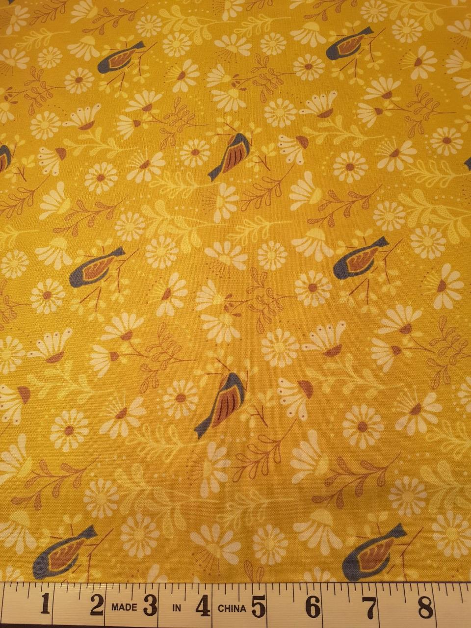 A Little Bird Told Me - Birds on Yellow