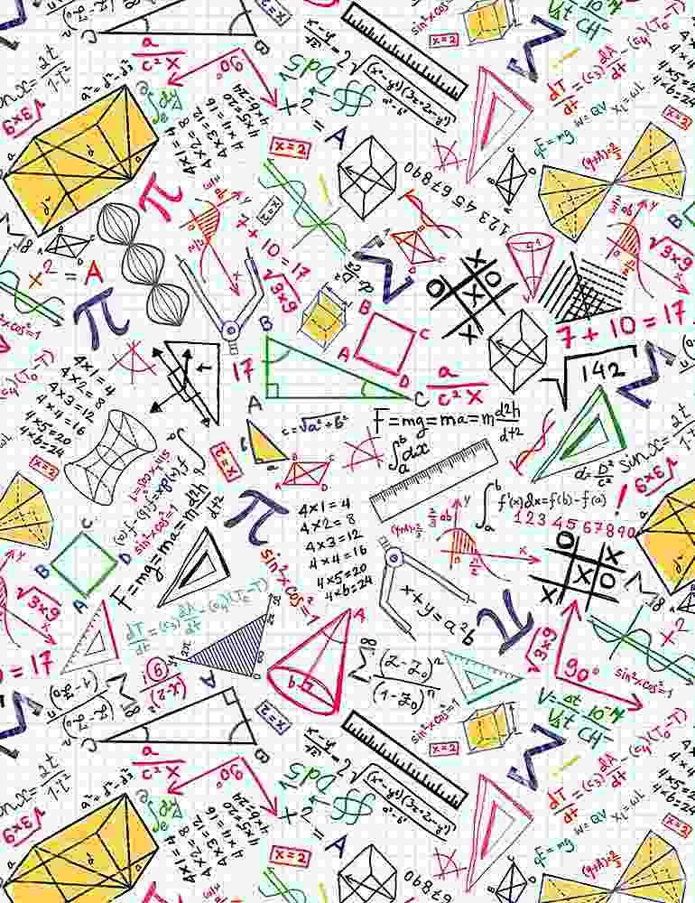 Colorful Math Doodles on Grid
