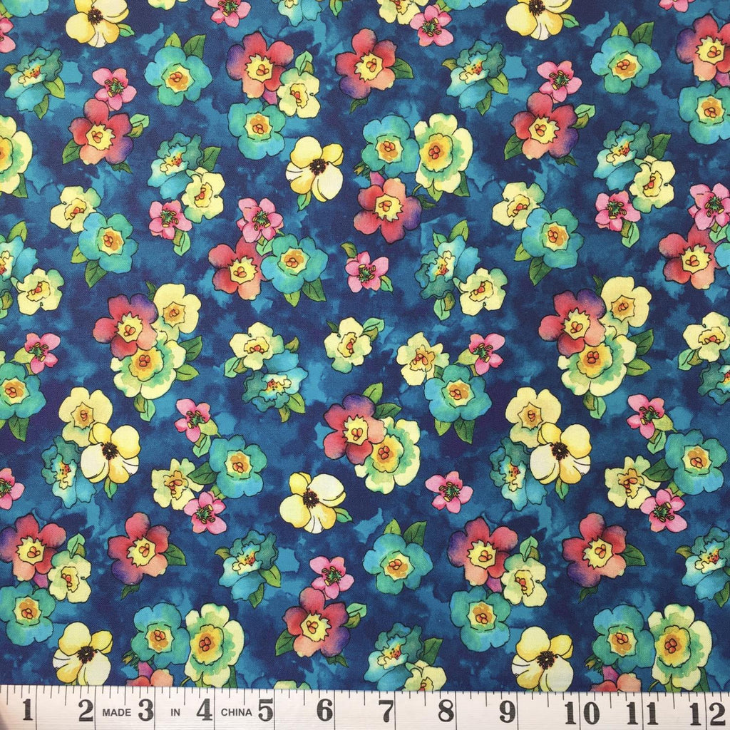 Rosalyn - Packed Floral on Navy