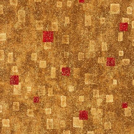Gustav Klimt - Red Squares on Gold