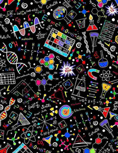 Bright Science Doodles on Black