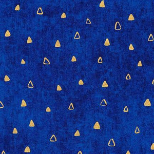 Gustav Klimt - Gold Triangles on Blue