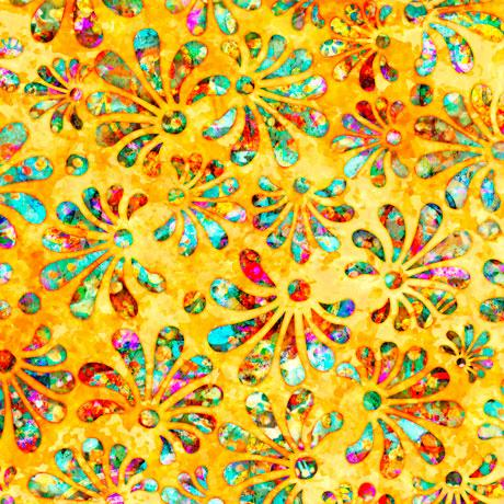 Radiance - Stylized Floral, Yellow