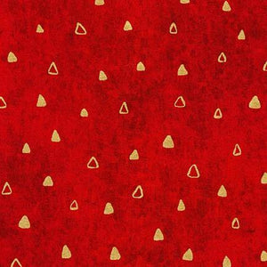 Gustav Klimt - Gold Triangles on Red