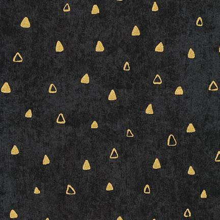Gustav Klimt - Gold Triangles on Black