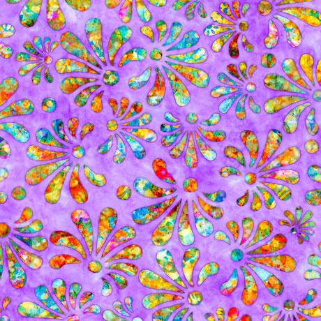 Radiance - Stylized Floral, Lt. Purple