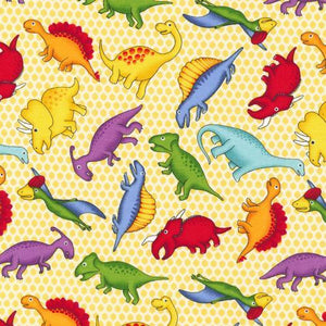Lost World - Dinos on Yellow