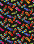 Colorful Flipflops on Black