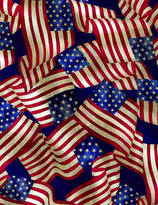 Packed USA Flags