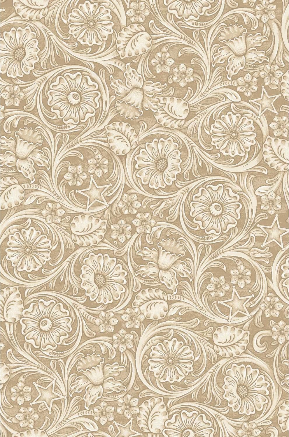 Cowgirl Spirit - Embossed Leather Beige