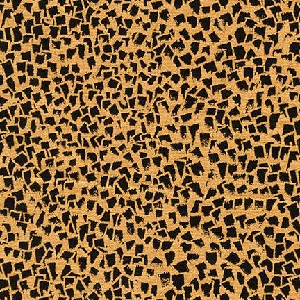 Gustav Klimt - Black and Gold Leopard Print