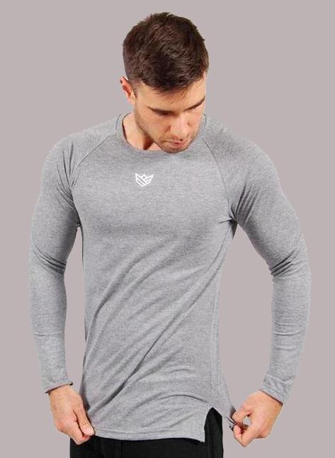 Apex Camiseta de Manga Larga - 2 Colores Disponibles Camiseta de Hombre Rise&Shine Mindbody Industries S Gris