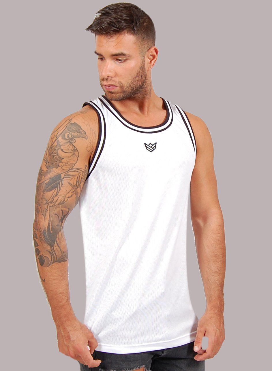 """Baller"" Camiseta de Basket - 2 Colores Rise&Shine Mindbody Industries S Blanco"