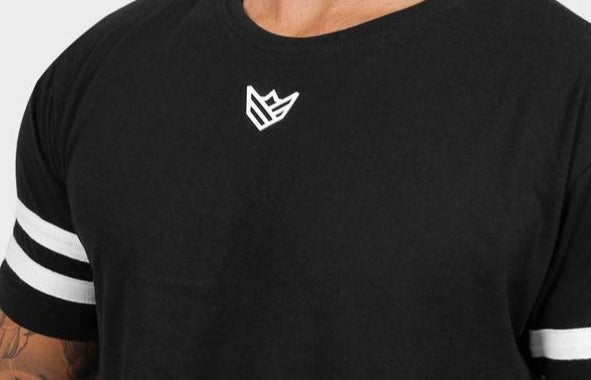 Camiseta Larga Negra Camiseta de Hombre Rise&Shine Mindbody Industries