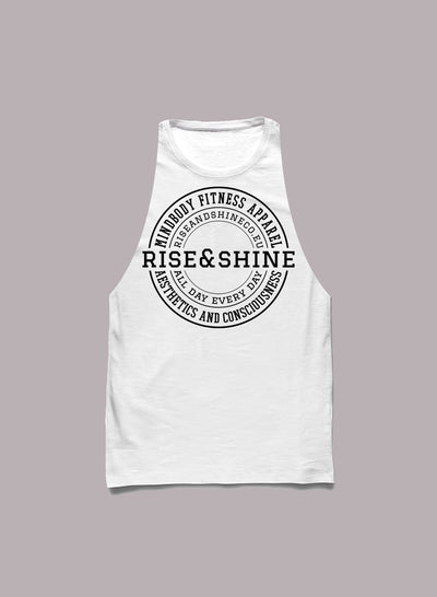 """Classic"" Camiseta Cortada a Mano - 2 Colores Disponibles Tirantes Hombre Rise&Shine Mindbody Industries S Blanco"