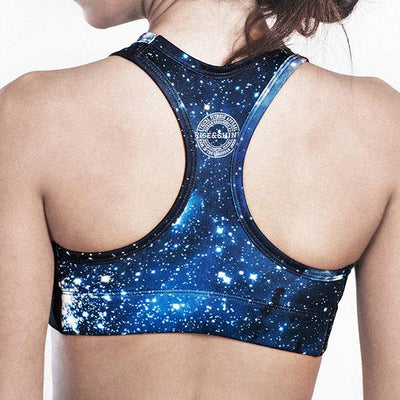 Cyan Galaxy Bra 1.0 (Limited Edition) Tops Mujer Rise&Shine Mindbody Industries
