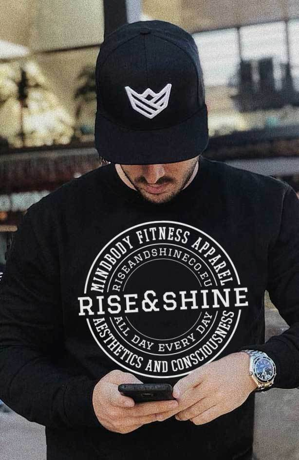 Gorra Snapback Gorras Rise&Shine Mindbody Industries Negro y Blanco / Black & White