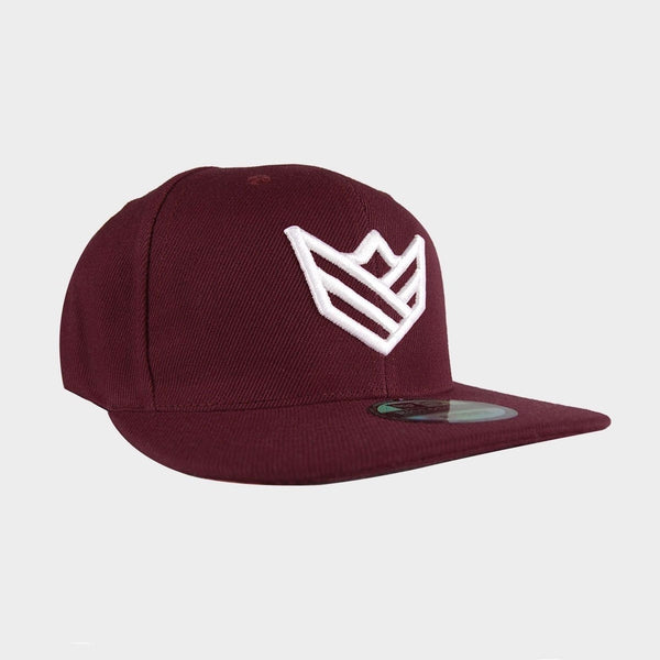 Gorra Snapback Gorras Rise&Shine Mindbody Industries Burdeos y Blanco / Burgundy & White