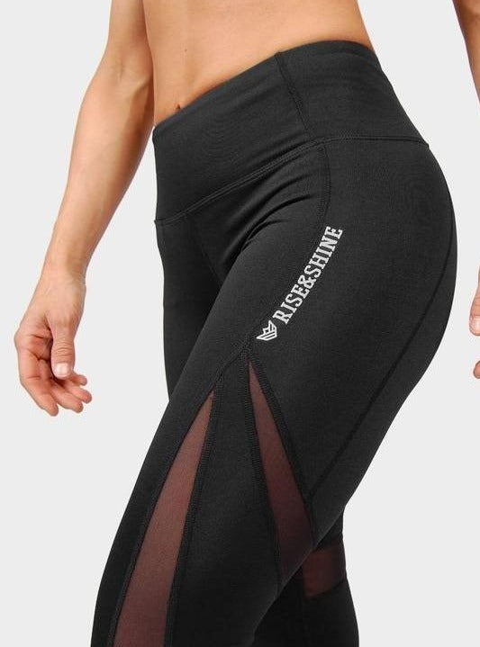 Mallas Astro con transparencias Mallas Chica Rise&Shine Mindbody Industries XS