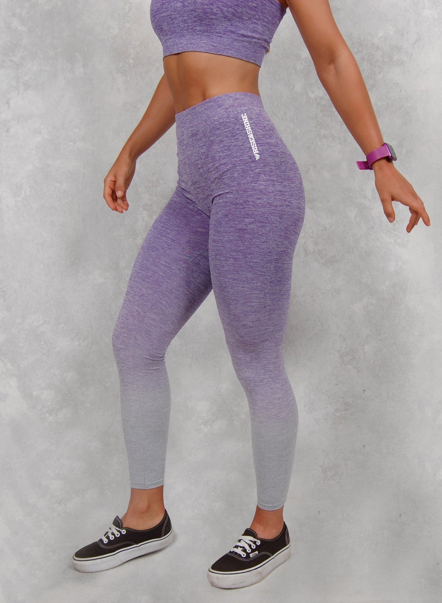 Mallas Eclipse Sin Costuras (Púrpura) Mallas Chica Rise&Shine Mindbody Industries XXS/XS